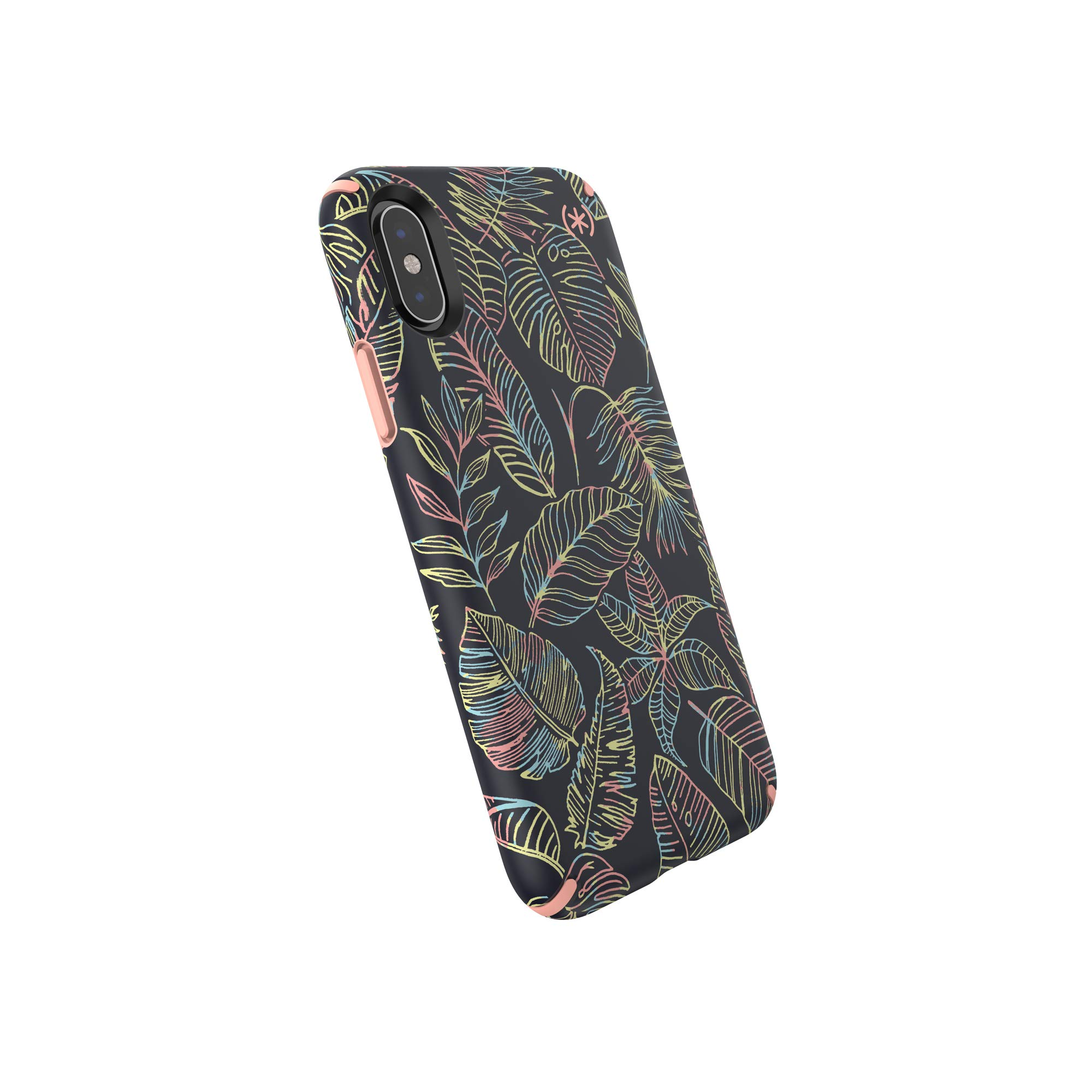 Speck Products, iPhone Xs/iPhone X Case, Presidio Inked, Sun Dyed Leaves/Sunset Peach by Speck