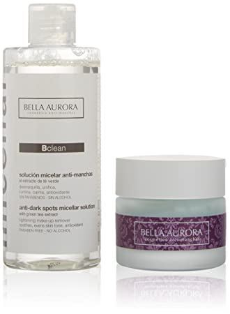 BELLA AURORA NIGHT SOLUTION BALSAMO NUTRITIVO REPARADOR CREMA 50ML + BCLEAN SOLUCION MICELAR ANTI-MANCHAS