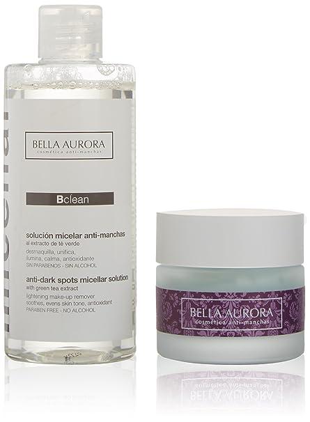 Bella Aurora 49576 - Bálsamo nutritivo reparador crema 50 ml + loción micelar anti-manchas