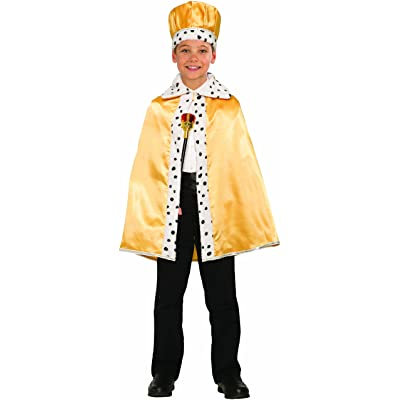 Forum Novelties 80261 Unisex-Children Royal Cape, One Size, Gold: Toys & Games