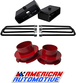 """12.5/"""" U Bolt Suburban Yukon XL 2500 1.5 Rear Suspension Lift Solid Iron Blocks"""