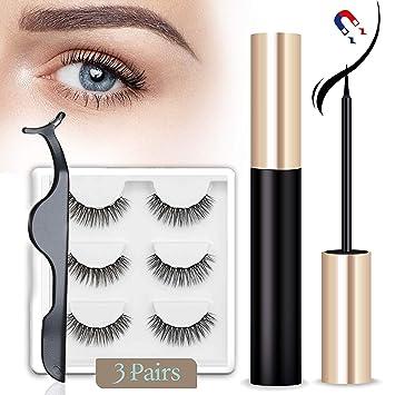 Amazon.com: Delineador de ojos magnético y pestañas con ...