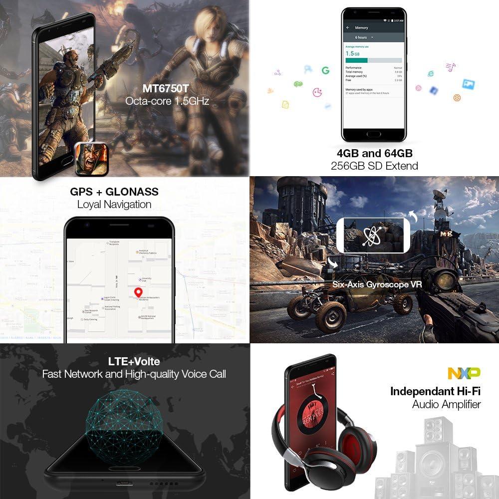 Ulefone Power 2 - Smartphone Libre 4G, 5.5