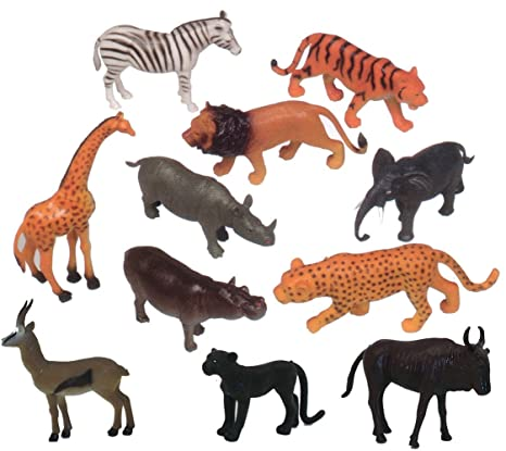 Amazon Com Get Ready Kids Zoo Wild Animal Playset Toys Games