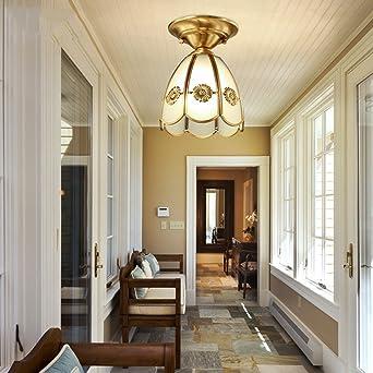 Modern Deckenlampe Kupfer Deckenleuchte, Flur Flur Balkon Flur Beleuchtung  Balkon Schlafzimmer ( Farbe : A