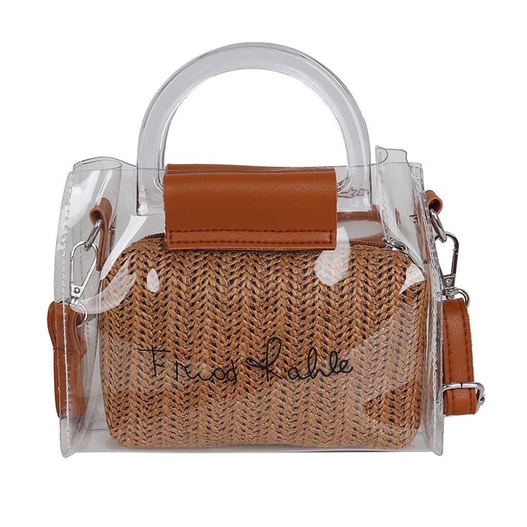 ❤Leaf2you Clear Bags Set D...