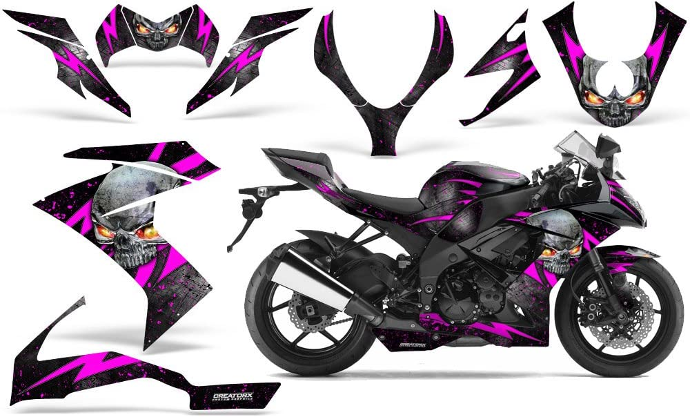 POLARIS OUTLAW 90 110 GRAPHICS KIT CREATORX DECALS STICKERS SKULL CHIEF PINK