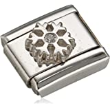 Nomination Composable Women's Charm Bead-Angel with Heart-Stainless Steel-White Zirconia - 330303/04