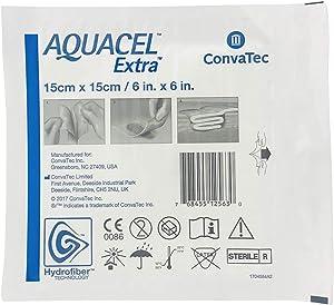 "New and Improved AQUACEL Extra Hydrofiber Dressing 6"" x 6"" (1 Dressing)"