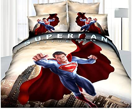 Superman Super Hero Cotton Bed Linen 3d Bedroom Set 3d Bedding Set Duvet  Cover Bed Sheet
