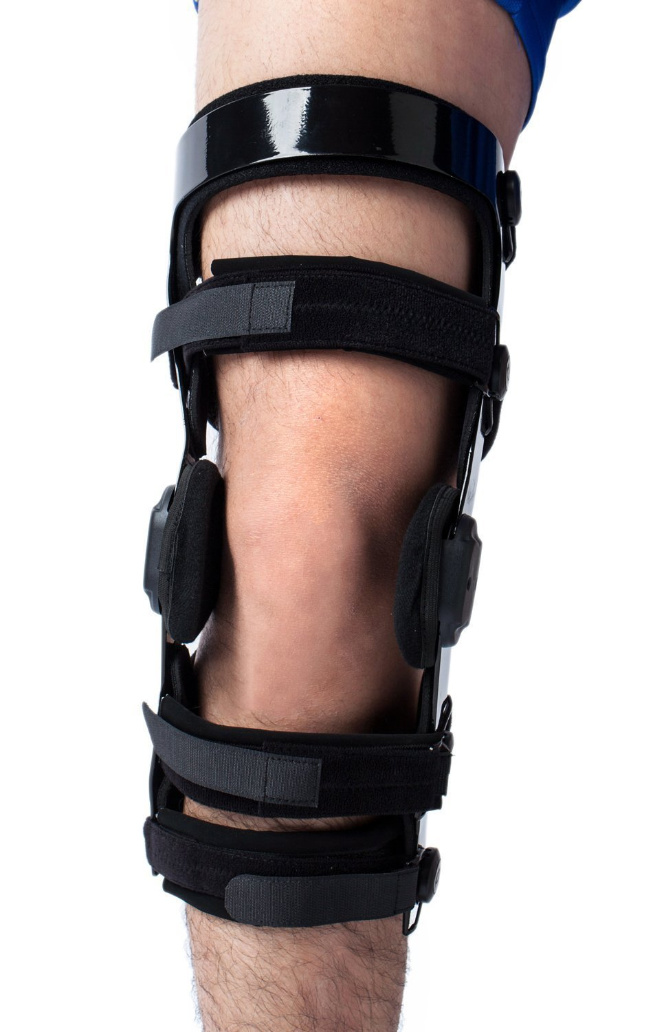Orthomen Functional Knee Brace - for ACL/MCL/PCL/Meniscus/Ligament/Sports Injuries, Adjustable Hinged ROM Orthopedic Knee Orthosis for Men & Women (Right - XL)