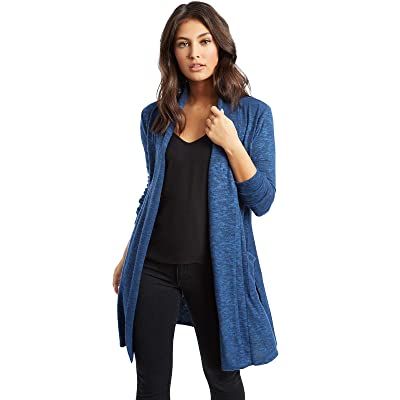 89th + Madison Women's Rayon/Poly Marled Knit Pocket Duster Cardigan at Amazon Women's Clothing store