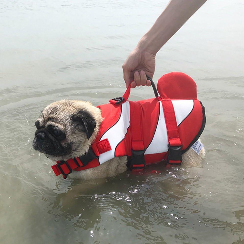 S, Clownfish Petilleur Dog Life Jacket Swim Dog Vest Lifejacket for Small Medium and Larger Dogs