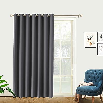 Amazon Com Pravive Wide Patio Door Curtains Heavy Duty Soundproof