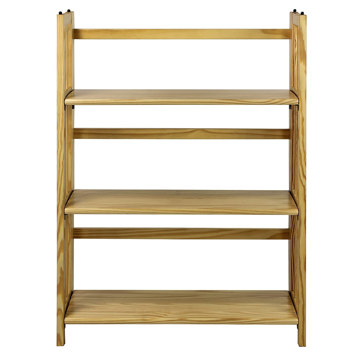 Amazon Casual Home 3 Shelf Folding Stackable Bookcase 27 5