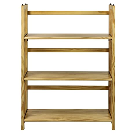 "Casual Home 3-Shelf Folding Stackable Bookcase (27.5"" Wide)-Natural"
