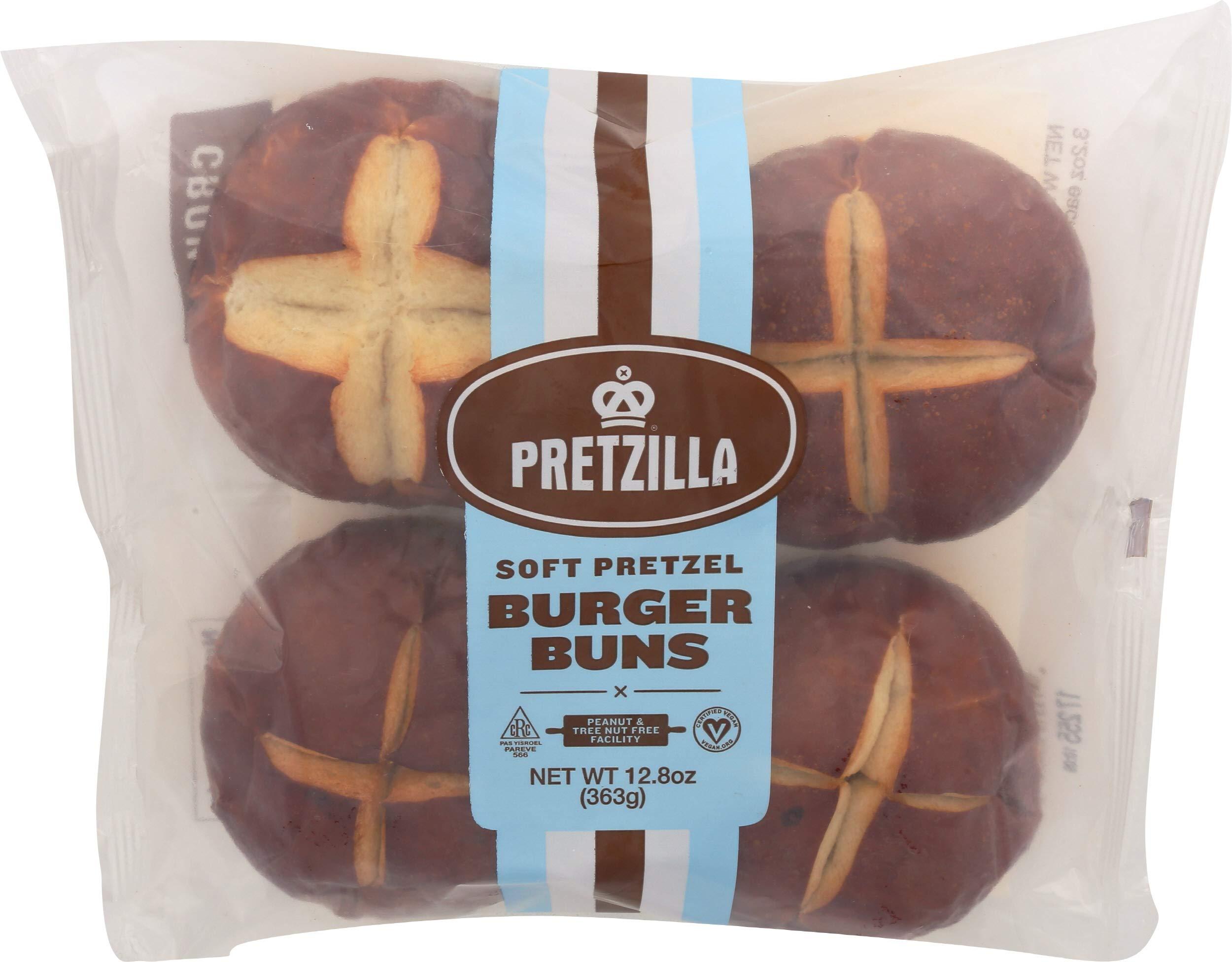 PRETZILLA Frozen Pretzel, Burger Bun, 12.8 Ounce (Pack of 15)