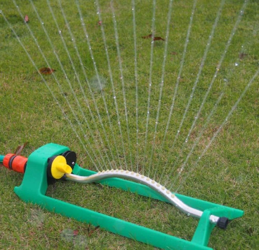 Aspersor de jardín, 18 orificios de pulverización de agua y aspersor automático de riego que puede girar el rociador de césped de jardín: Amazon.es: Industria, empresas y ciencia