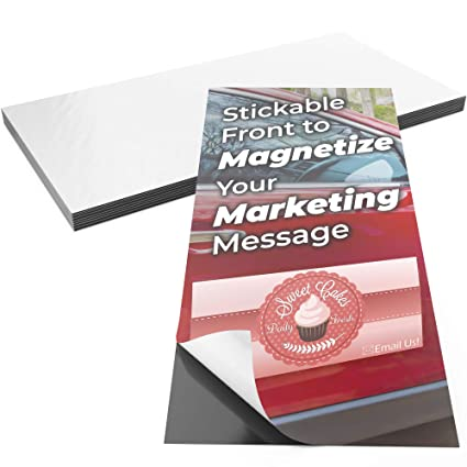 Pro-Grade 12x24 Inch Adhesive Magnets 2pk  XL Blank Peel-and-Stick  Magnetizers for Large Bumper Stickers, Art Decals, Posters or Ads  Strong,  Flexible