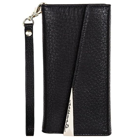 wholesale dealer f3a4f ee554 Case-Mate iPhone 8 Case - WRISTLET FOLIO - Premium Pebbled Leather -  Protective Design for Apple iPhone 8 - Black