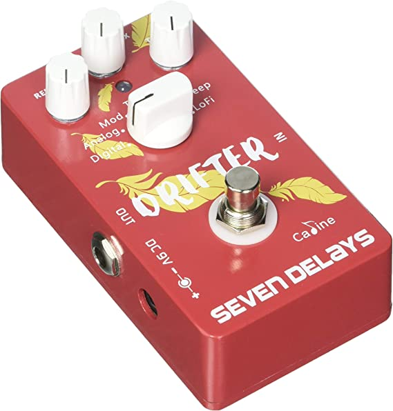 Caline Reverb Digital Seven Delays CP-37 Guiter Effect Pedal with True Bypass