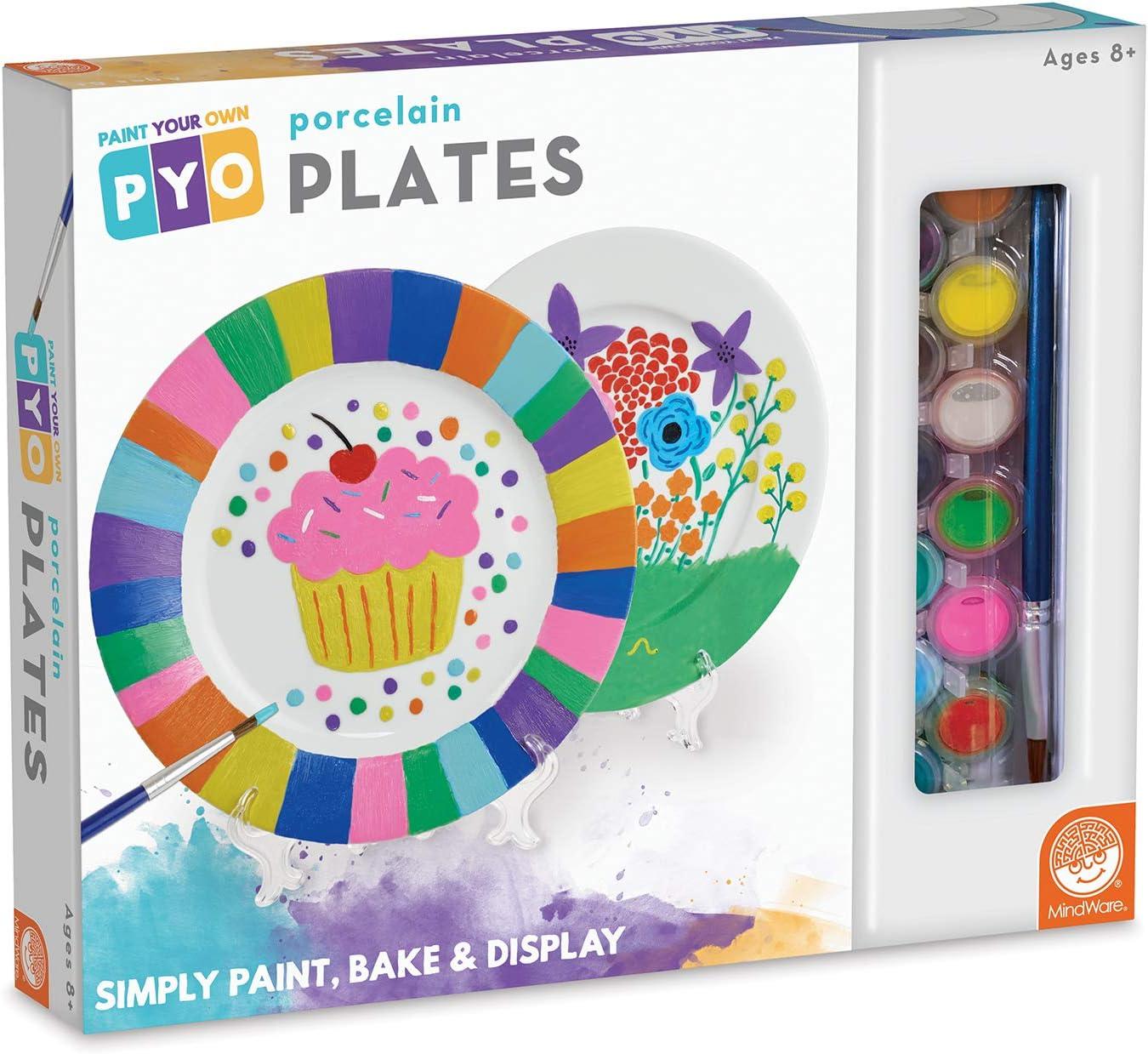 Amazon Com Mindware Paint Your Own Porcelain Plates