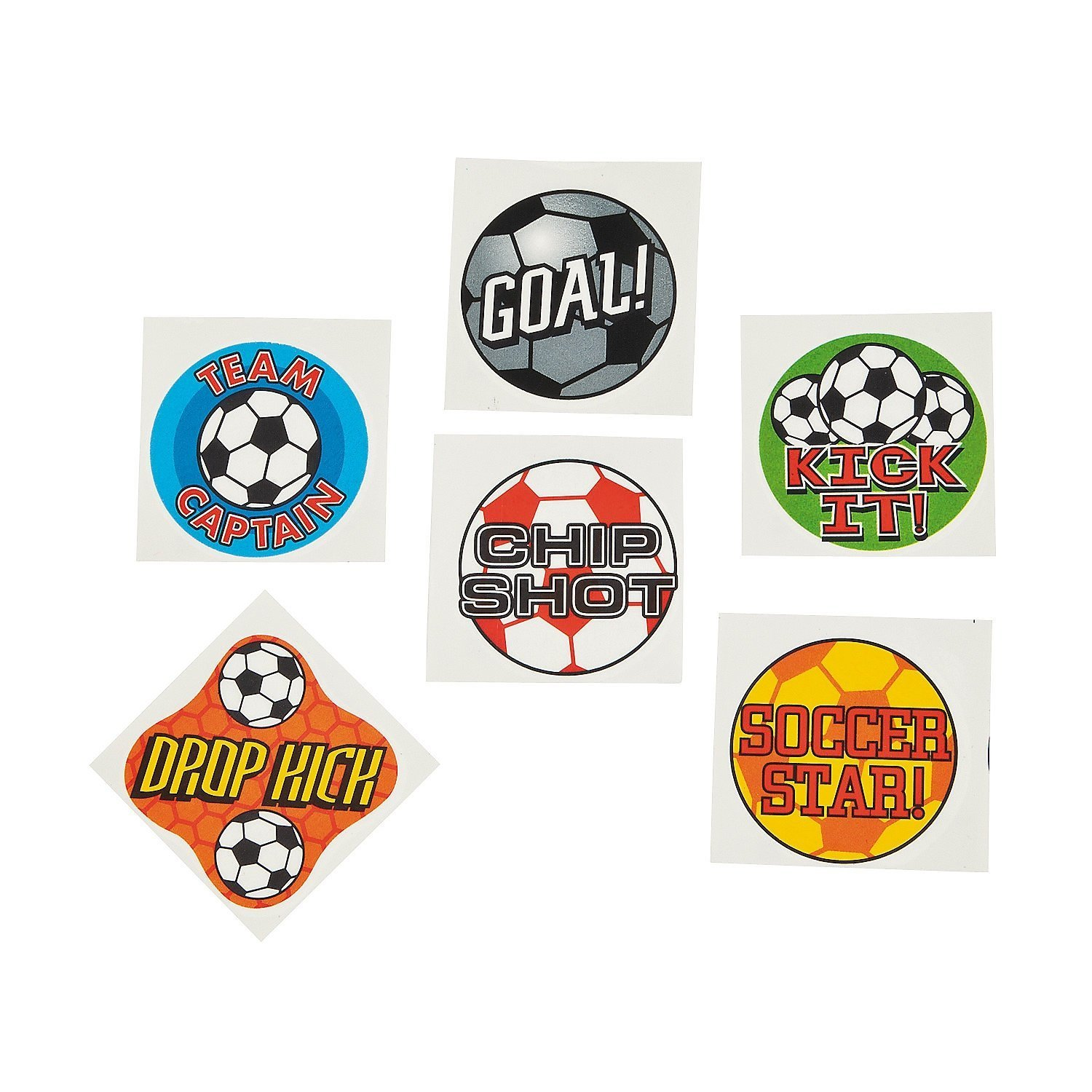 Fun Express Temporary Soccer Tattoos (6 Dozen) Everready First Aid FNEIN-42/2169