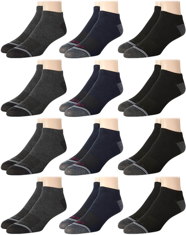 Nautica Men/'s Five Pair Dress Stretch Comfort Stay Up Cuff 5pk Crew Socks 6-12.5
