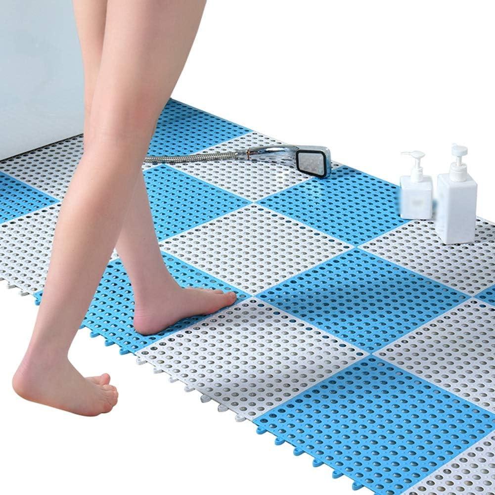 Color : C, Size : 4-Tiles 30x30cm Spessore 1 Cm AWSAD Tappeto Doccia Pedana Cava Prevenire La Caduta Drenaggio Veloce Piscina Bagno 4 Colori Tappetino Bagno