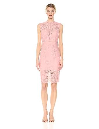 Bardot Women's Lace Panel Dress, Cobalt, Large