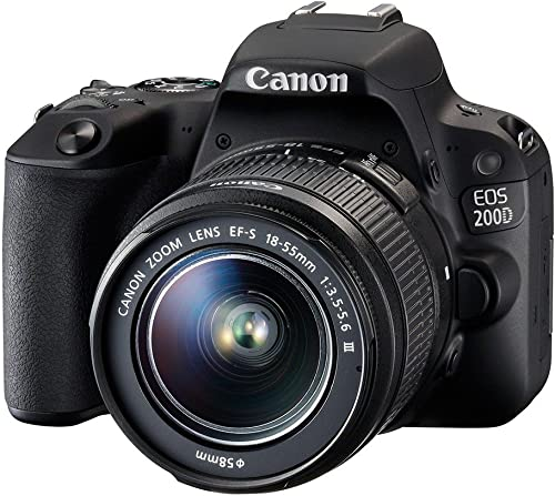 Canon EOS 200D / SL2 Camera with EF-S 18-55mm Lens (Black) - Deal-Expo Essential Accessories Bundle