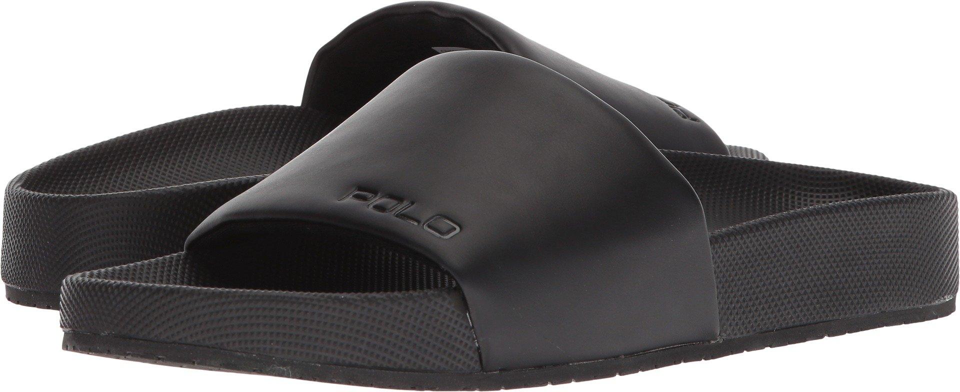 Polo Ralph Lauren Men's Cayson Slide Sandal, Black, 12 D US