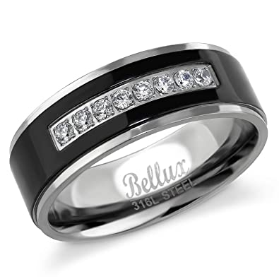 Bellux Style Men S Wedding Ring Engagement Bands For Him Comfort Fit
