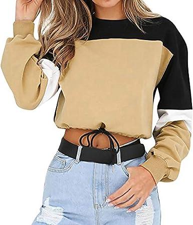 Jaysis Pullover Sweatshirts Court Cropped Colorblock Imprimé