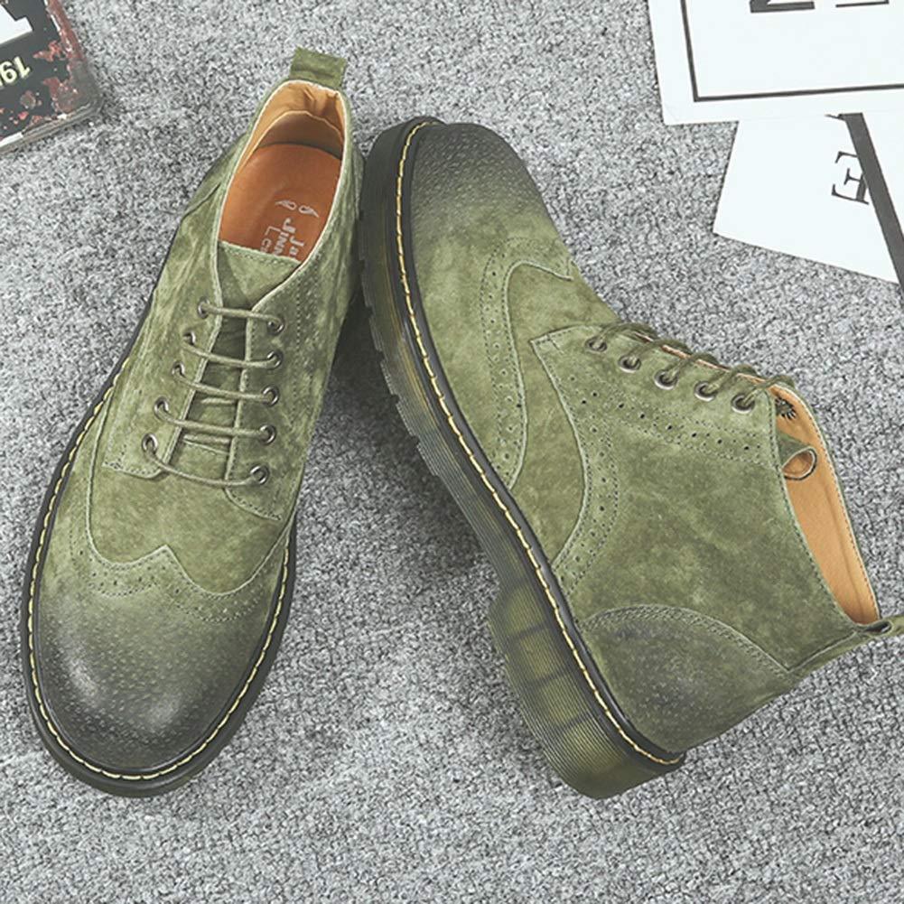ABC YIXINY 66988 Herren Stiefel im britischen Stil im Frühling Größe und Herbst, atmungsaktiv, lässig, Farbe  Python Grün, Größe Frühling  EU42 UK 8.5 CN43 f13a3f