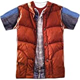 Back To The Future Men's Mcfly Vest Sublimation T-shirt White