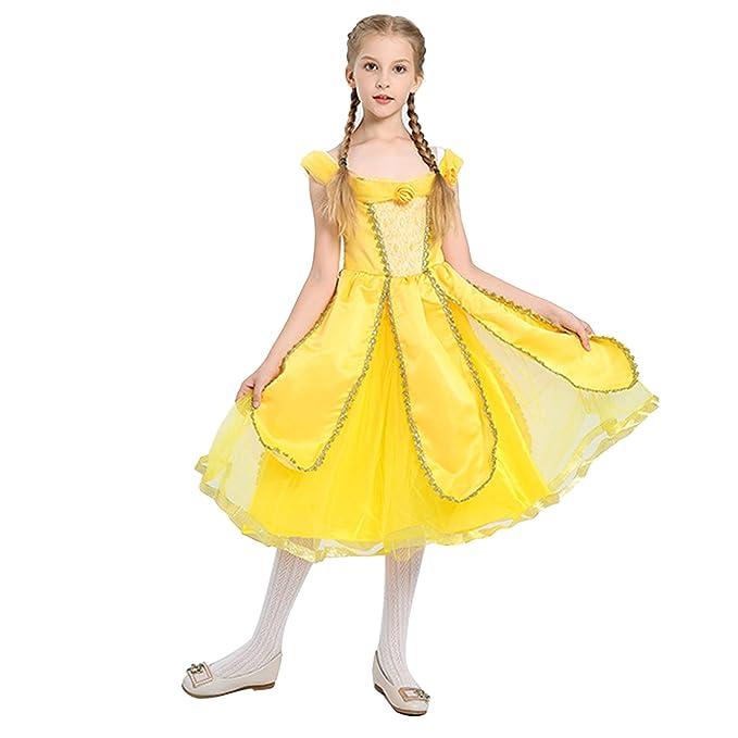 Pettigirl Niñas Princesa Dorada Belleza Traje Mágico ...