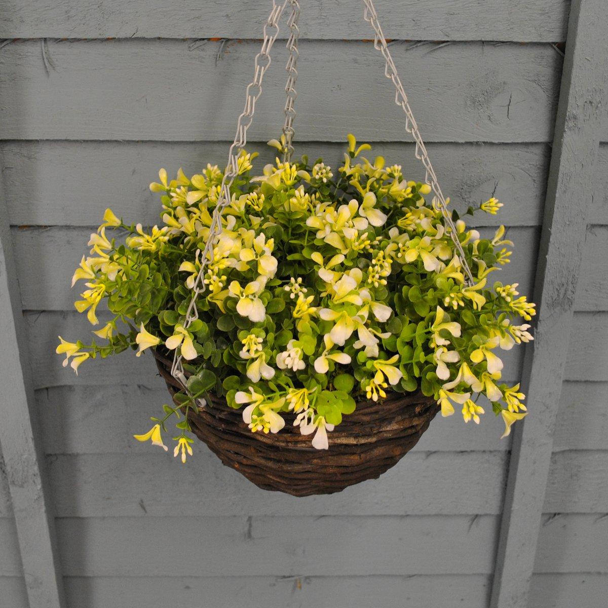 Artificial Blond Lobelia hanging basket (25 centimeters) by Smart Garden