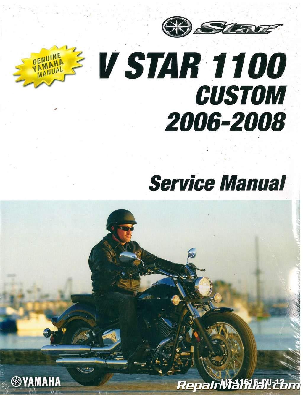 LIT-11616-CU-12 2006-2009 Yamaha XVS1100 V-Star Custom Service Manual pdf