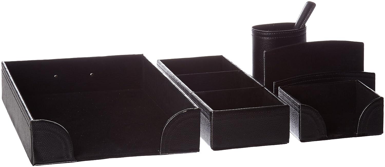 Negro OUNONA Escritorio Mando a Distancia Soporte de Piel sint/ética 3/Compartimento Organizador casa art/ículos Caja de Almacenamiento