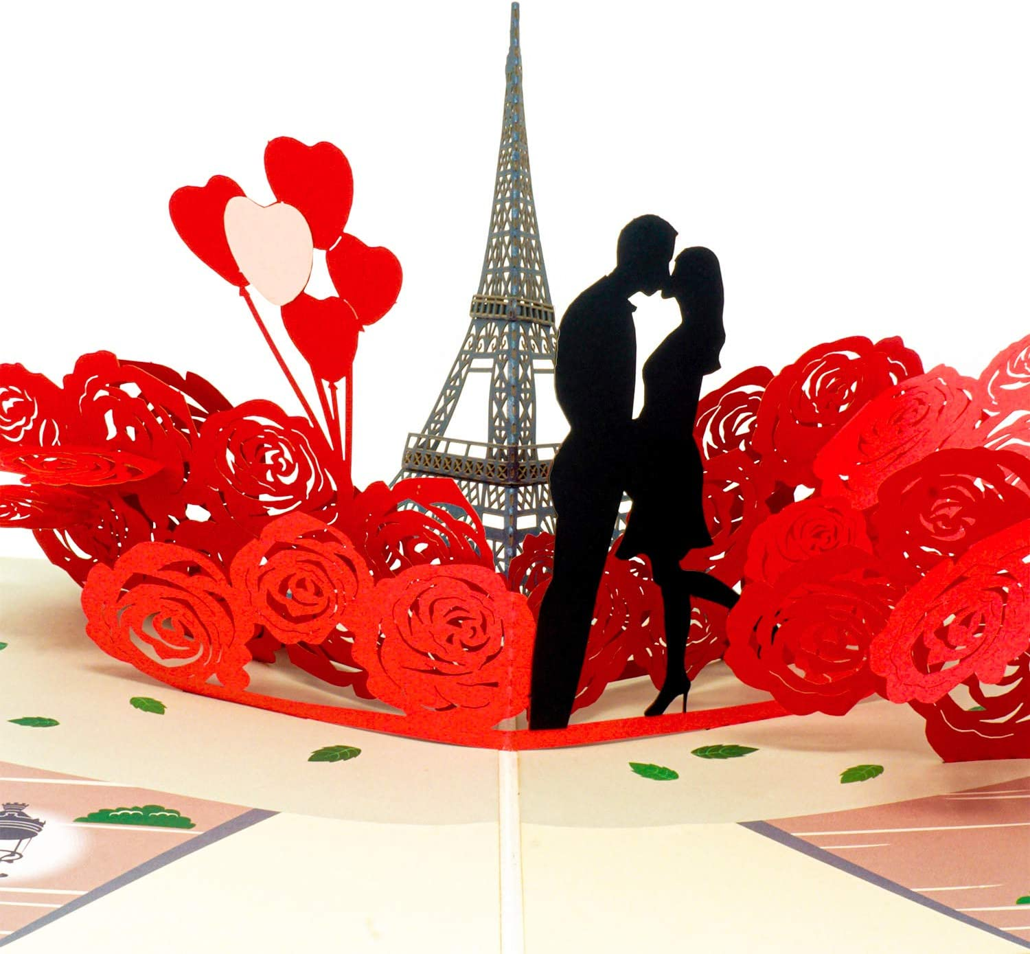 Magnificent Amazon Com Paper Love Paris Lovers Pop Up Card Handmade 3D Personalised Birthday Cards Paralily Jamesorg