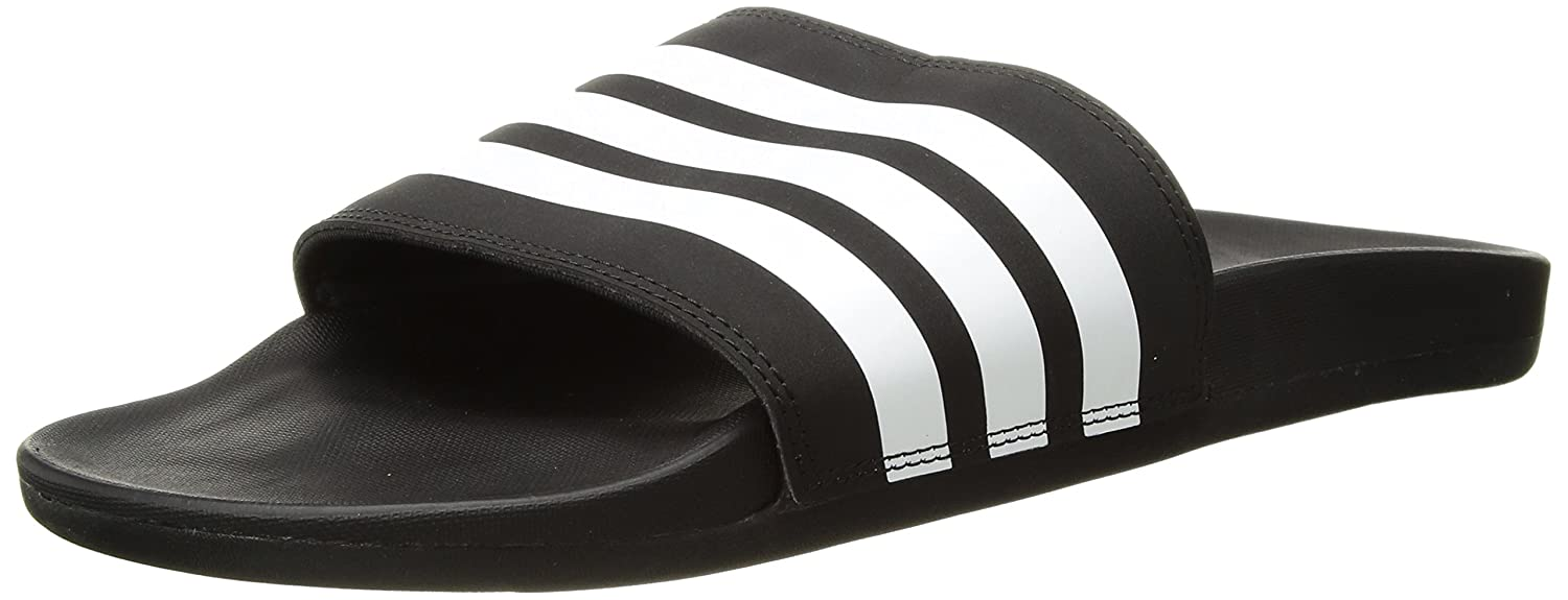 adidas Originals Men's Adilette Comfort Slide Sandal B072BWZRD7 6 D(M) US|Black/White/Black 1