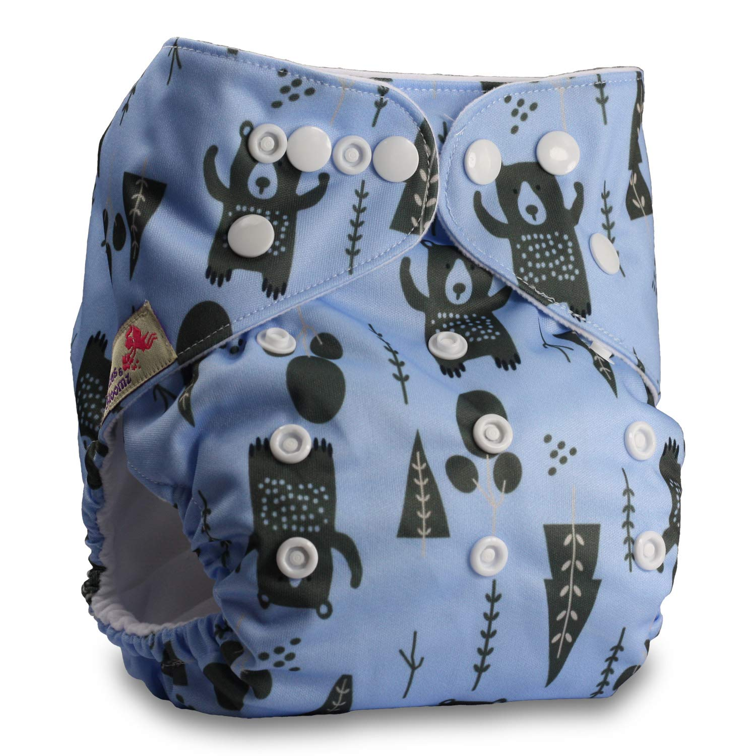 Pattern 97 Fastener: Popper Reusable Pocket Cloth Nappy Without Insert Set of 1 Littles /& Bloomz