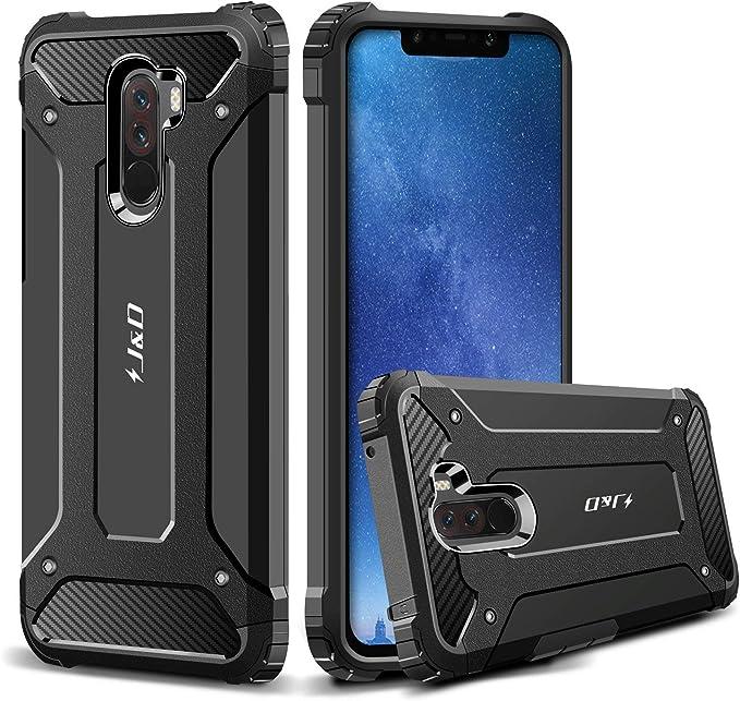 J&D Compatible para Xiaomi Pocophone F1 Funda, [Armadura Delgada] [Doble Capa] [Protección Pesada] Híbrida Resistente Funda Protectora y Robusta para Xiaomi Pocophone F1: Amazon.es: Electrónica