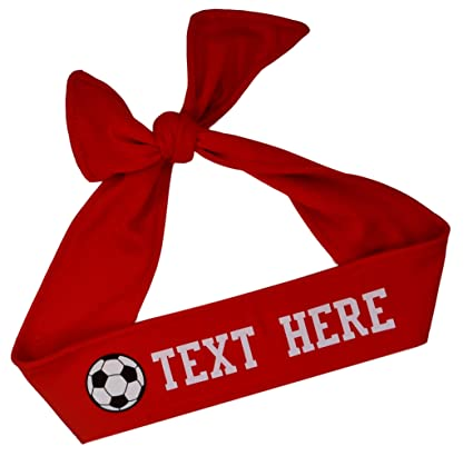 Funny Girl Designs Soccer TIE Back Moisture Wicking Headband Personalized  Your Way with Vinyl Text and 466ef7a551c