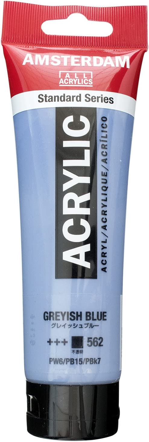 AMSTERDAM ACRYLIC 120ML GREYISH BLUE SINGLE TUBE