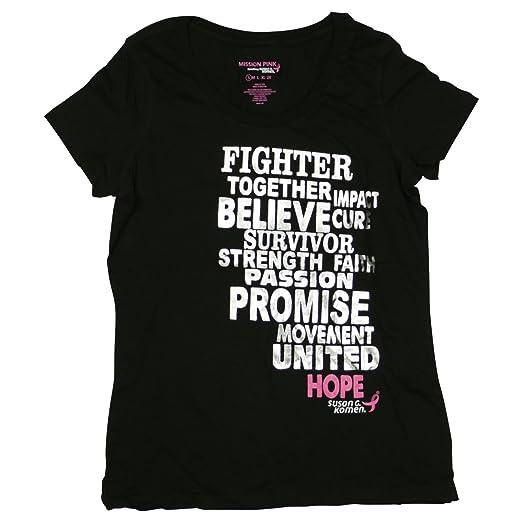 1dab54a0 Amazon.com: Mission Pink Womens Susan G Komen Tee Shirt Small Black ...