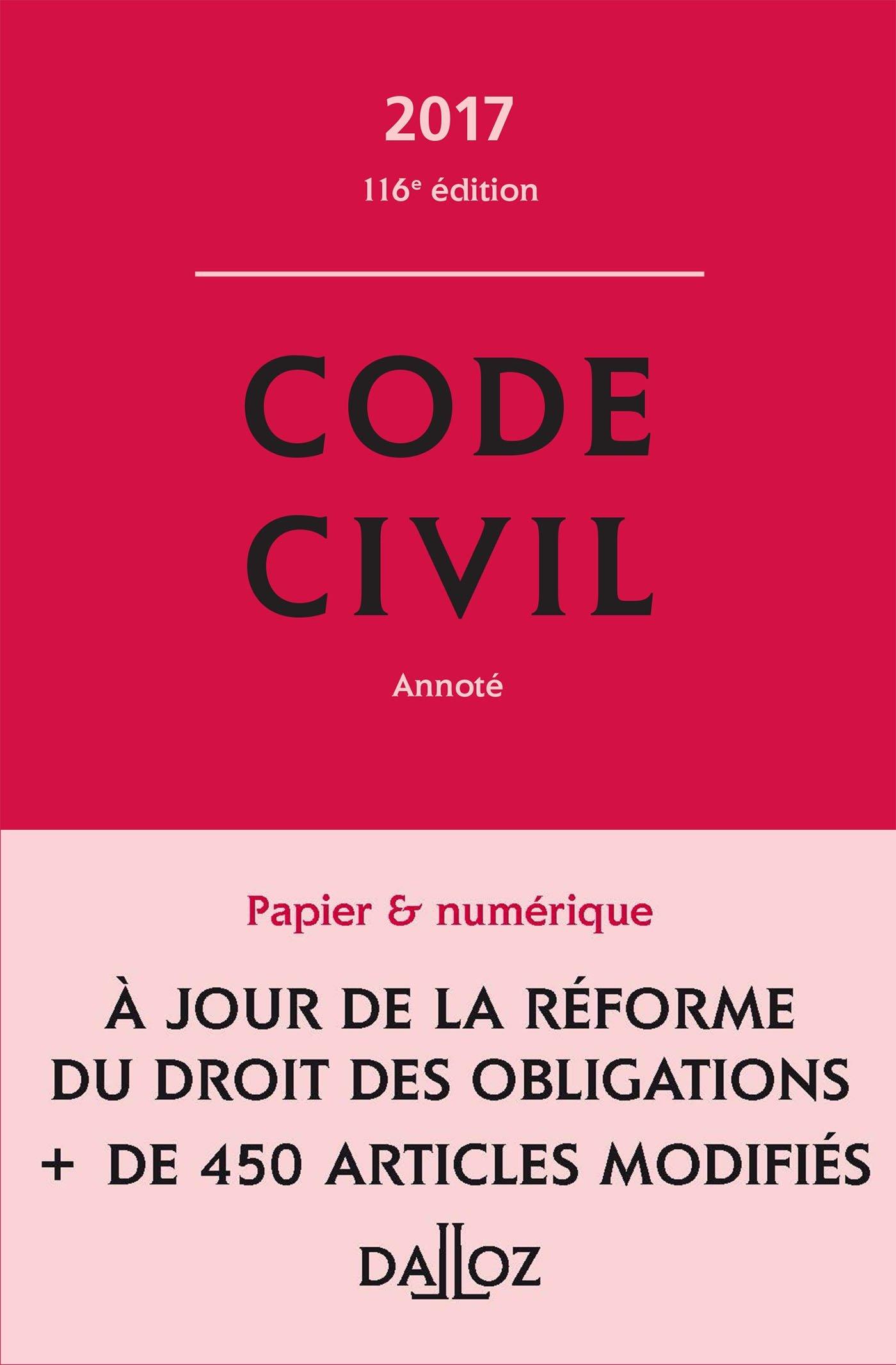 Code civil 2017 - 116e éd. Relié – 17 août 2016 Xavier Henry Pascal Ancel Guy Venandet Georges Wiederkehr