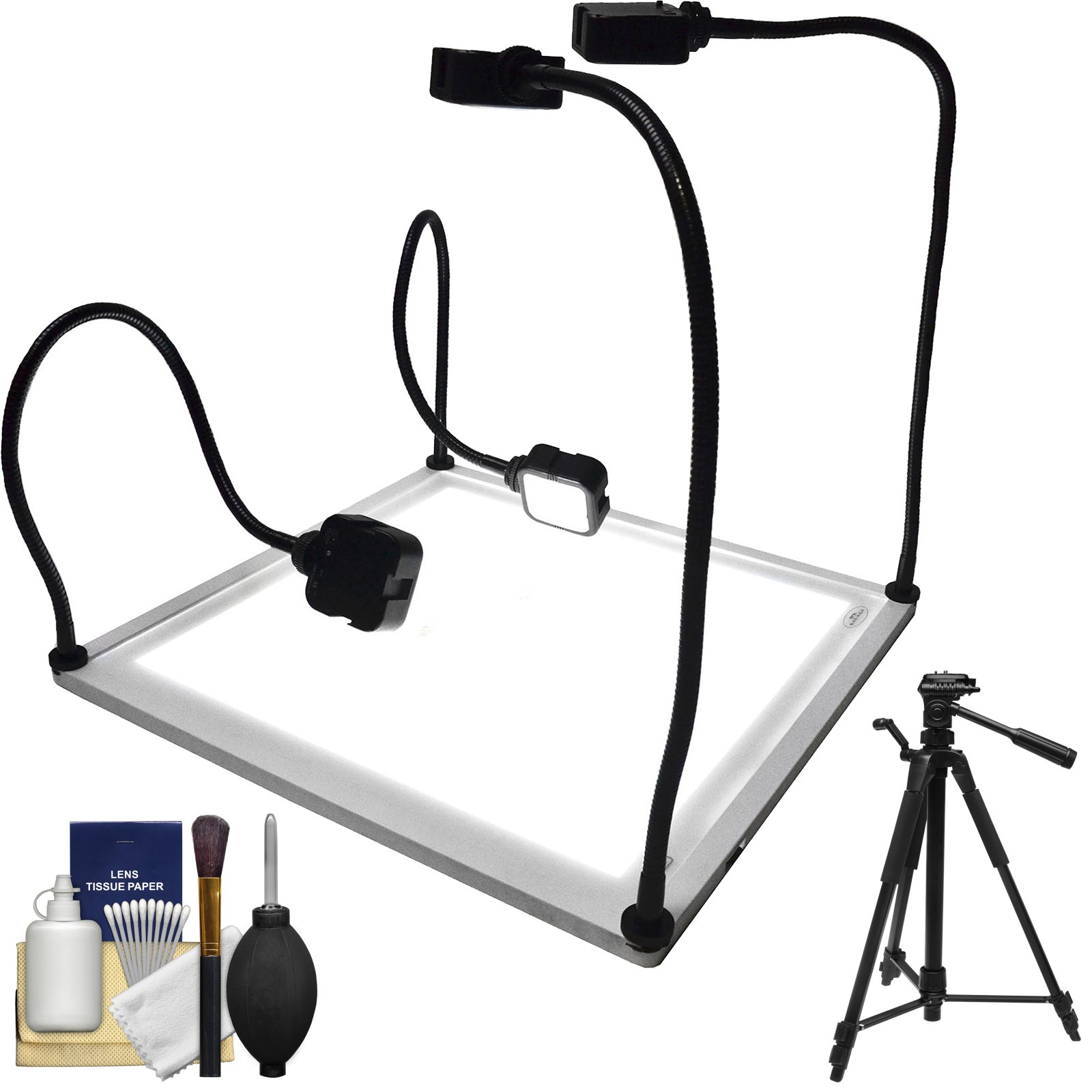 Savage Product Pro 15x15-inch 4 LED Light Table with 58'' Photo/Video Tripod + Cleaning Kit by Savage