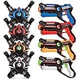 Laser Tag Sets, Kidpal Laser Tag Guns Set of 4 with Vest for Boys & Girls Age 8 9 10 11 12, Lazer/Laser Tag Game for Family,